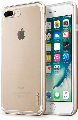 Бампер LAUT EXO-FRAME Aluminium bampers для iPhone 7 Plus - Gold (LAUT_IP7P_EX_GD) - ITMag
