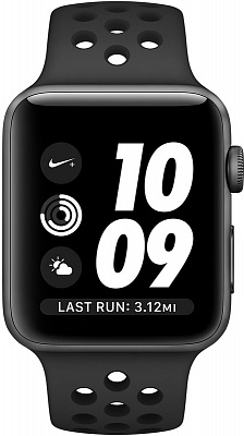 Apple Watch Nike+ 42mm Space Gray Aluminum Case with Anthracite/Black Nike Sport Band (MQ182) - ITMag