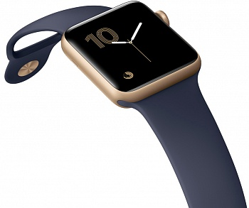 Apple Watch Series 1 42mm Gold Aluminum Case with Midnight Blue Sport Band (MQ122) - ITMag