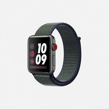 Apple Watch Nike+ Series 3 (GPS + Cellular) 42mm Space Gray Aluminum with Mig Fog Sport Loop (MQLH2) - ITMag