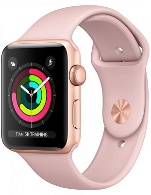 Apple Watch Series 3 (GPS) 42mm Gold Aluminum w. Pink Sand Sport B. - Gold (MQL22) - ITMag