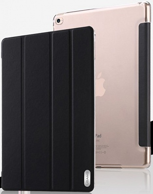 Чехол USAMS Viva Series for iPad Air 2 Slim Four-fold Stand Smart Leather Case - Black - ITMag