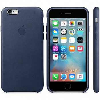 Apple iPhone 6s Leather Case - Midnight Blue MKXU2 - ITMag