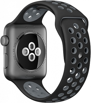 Apple Watch Nike+ 42mm Space Gray Aluminum Case with Black/Cool Gray Nike Sport Band (MNYY2) - ITMag