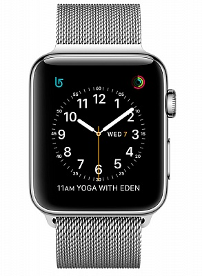 Apple Watch Series 2 42mm Stainless Steel Case with Milanese Loop Band (MNPU2) - ITMag