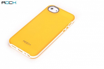 Чехол ROCK Joyful Free Series для Apple iPhone 5/5S (+пленка) (Желтый / Yellow) - ITMag