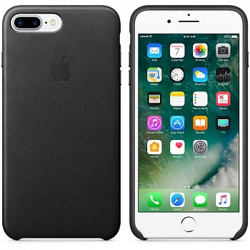 Apple iPhone 7 Plus Leather Case - Black MMYJ2 - ITMag