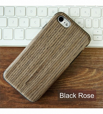 "Деревянная накладка Rock Origin Series (Grained) для Apple iPhone 7 (4.7"") (Black Rose) - ITMag"