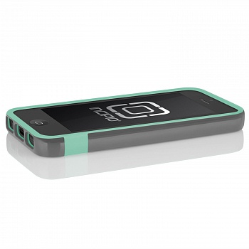 Чехол Incipio OVRMLD for iPhone 5/5S - Charcoal Gray / Navajo Turquoise - ITMag