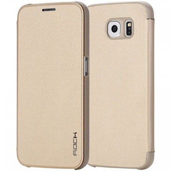 Чехол (книжка) Rock Touch series для Samsung Galaxy Note 5 N920 (Золотой / Gold) - ITMag