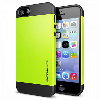 Пластиковая накладка SGP Slim Armor S Series для Apple iPhone 5/5S (Лайм / Lime) - ITMag